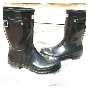 Hunter Original Short Gloss Rain Boots Size 9